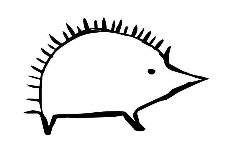 A cave painting hedgehog