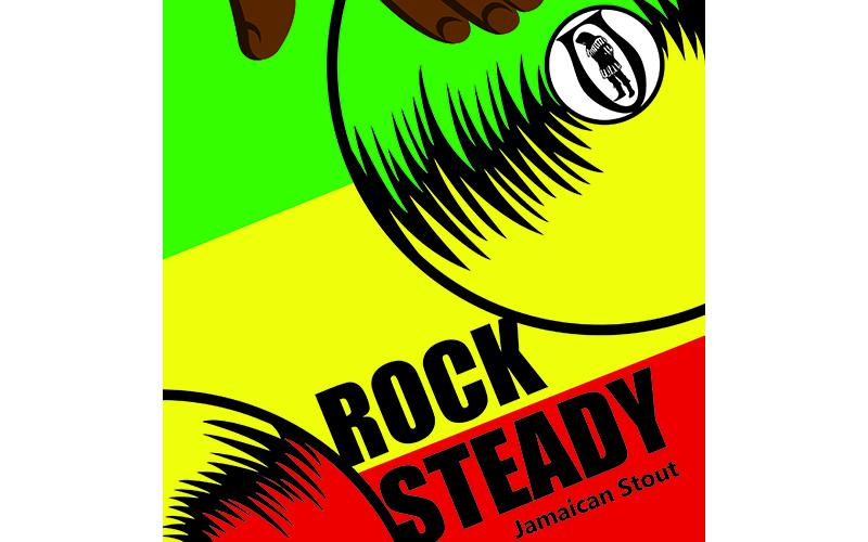 Rock Steady label; hands on a turntable