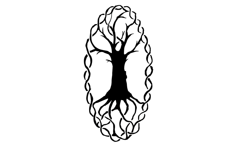 The world tree in Celtic knots