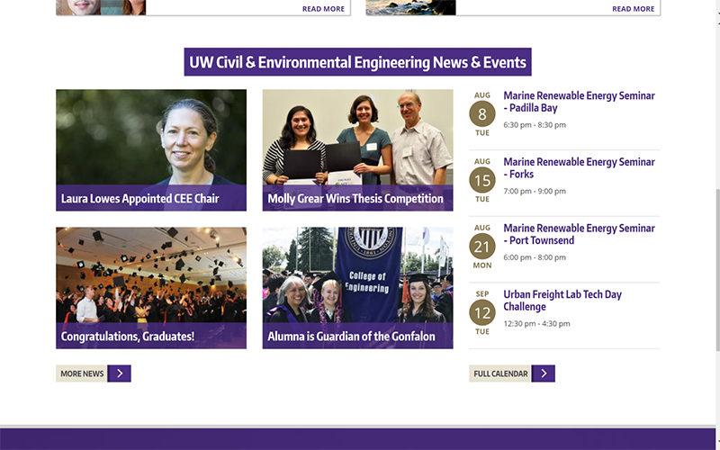 UW Civil & Environmental Engineering home page