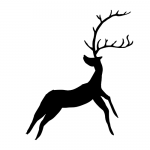 A deer in the style of a cave painting